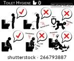 toilet hygiene   stick man... | Shutterstock .eps vector #266793887