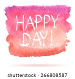 red watercolor spot over white... | Shutterstock .eps vector #266808587