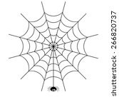 vector spider web and small... | Shutterstock .eps vector #266820737