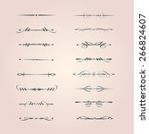 set of calligraphy design... | Shutterstock .eps vector #266824607