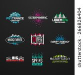 third music equalizer emblem... | Shutterstock .eps vector #266826404