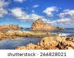 sugarloaf rock is a coastal... | Shutterstock . vector #266828021