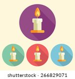 candle icon in flat style