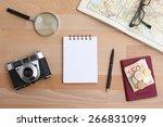 city trip travel planning... | Shutterstock . vector #266831099