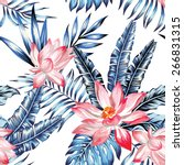 floral fashion tropic wallpaper ... | Shutterstock .eps vector #266831315