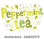 peppermint tea | Shutterstock .eps vector #266832575