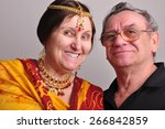 portrait of happy senior couple ... | Shutterstock . vector #266842859