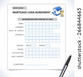 mortgage paper form  loan... | Shutterstock .eps vector #266844665
