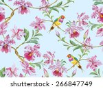 flowering branch of orchids... | Shutterstock . vector #266847749