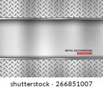 metal background.vector... | Shutterstock .eps vector #266851007