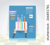 flat style business... | Shutterstock .eps vector #266851781