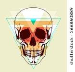 skull. fashion illustration | Shutterstock .eps vector #266860889