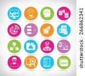 programming icons set | Shutterstock .eps vector #266862341