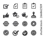quality control icons | Shutterstock .eps vector #266862509