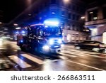 Fast Driving Fire Truck In A...