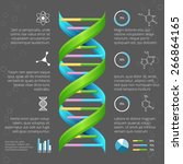 infographic template with dna... | Shutterstock .eps vector #266864165