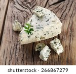 slices of danish blue cheese...