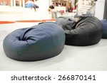Blue Pouf. Soft Beanbag