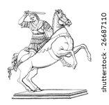 engraving of alexander the... | Shutterstock . vector #26687110