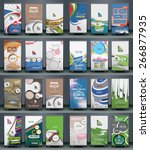 mega collection of roll up... | Shutterstock .eps vector #266877935