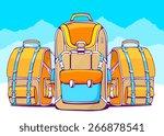 vector illustration of fashion... | Shutterstock .eps vector #266878541
