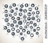 social network  | Shutterstock .eps vector #266881019