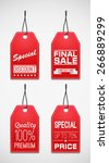 sale tag. coupons and discount | Shutterstock .eps vector #266889299