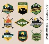 adventure  outdoors  camping... | Shutterstock .eps vector #266889779