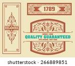 vector. set retro wedding card | Shutterstock .eps vector #266889851