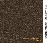 seamless brown natural leather... | Shutterstock .eps vector #266894411