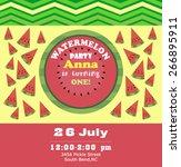 watermelon party invitation | Shutterstock .eps vector #266895911