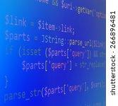 program code   angle view   Shutterstock . vector #266896481