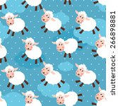 seamless pattern with cute... | Shutterstock .eps vector #266898881
