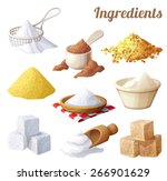 set of food icons. ingredients... | Shutterstock .eps vector #266901629