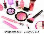 different cosmetics isolated on ... | Shutterstock . vector #266902115