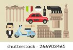 flat modern vector rome icons... | Shutterstock .eps vector #266903465