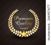 premium quality golden award... | Shutterstock .eps vector #266907677