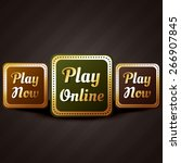 play online casino style game... | Shutterstock .eps vector #266907845