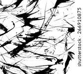abstract ink grunge texture... | Shutterstock .eps vector #266910875