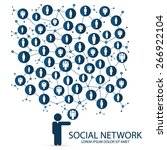 social network | Shutterstock .eps vector #266922104