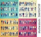 jobs people diversity work... | Shutterstock . vector #266926739