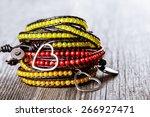a colorful handmade gemstone... | Shutterstock . vector #266927471