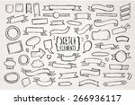 hand drawn sketch hand drawn... | Shutterstock .eps vector #266936117
