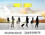 international airport terminal... | Shutterstock . vector #266939879