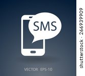 sms icon | Shutterstock .eps vector #266939909