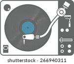 record player vinyl record... | Shutterstock .eps vector #266940311