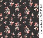 trendy seamless floral pattern... | Shutterstock .eps vector #266941145