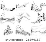 musical designs sets with... | Shutterstock .eps vector #26694187