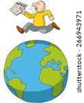 run around the world   Shutterstock .eps vector #266943971