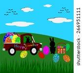 easter greeting card vector | Shutterstock .eps vector #266951111